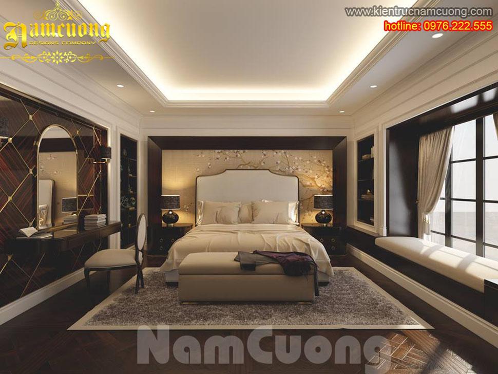 Thiết kế nội thất phòng ngủ tân cổ điển ấn tượng tại Sài Gòn - NTNTCD 042