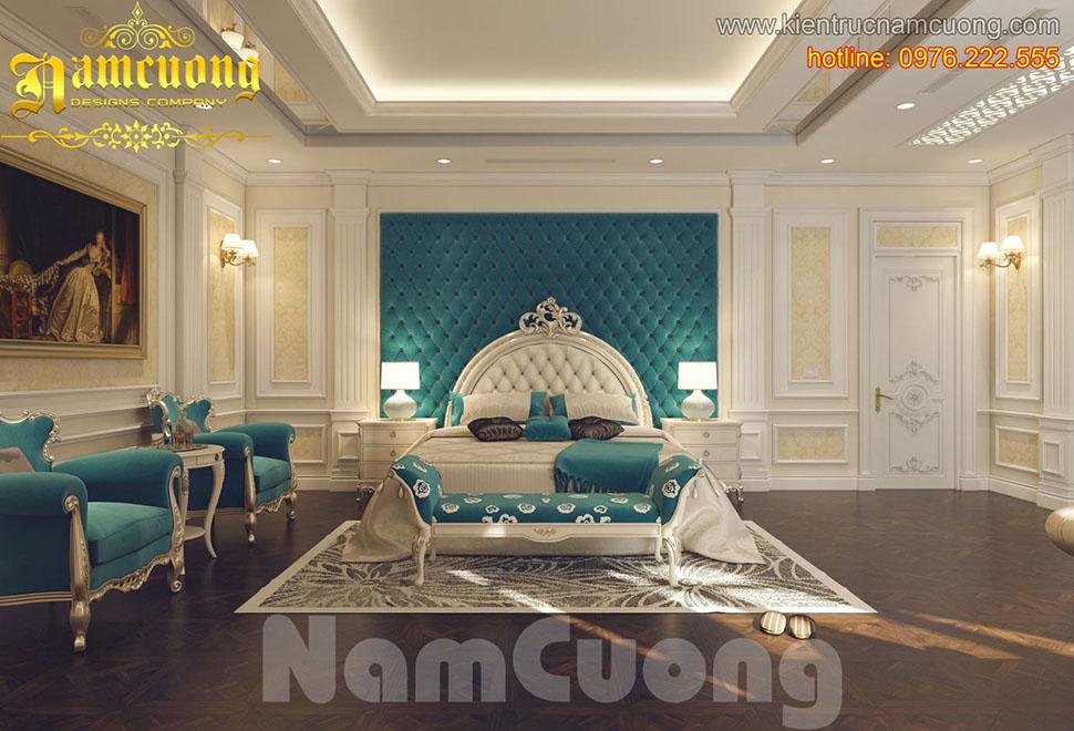 Thiết kế nội thất phòng ngủ tân cổ điển ấn tượng tại Sài Gòn - NTNTCD 045