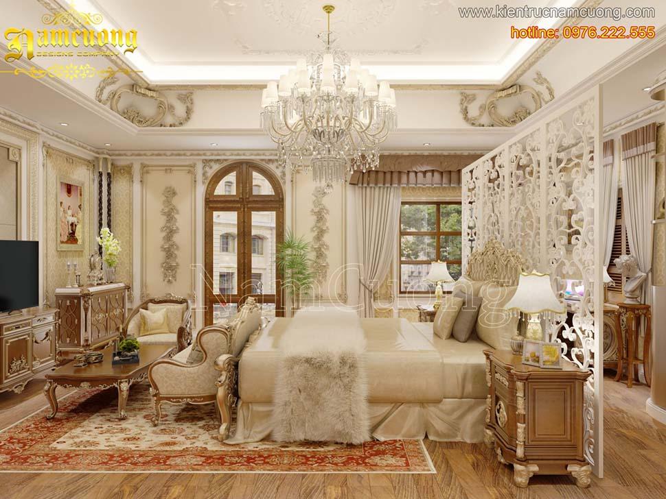 Thiết kế nội thất phòng ngủ tân cổ điển ấn tượng tại Quảng Ninh - NTNTCD 048