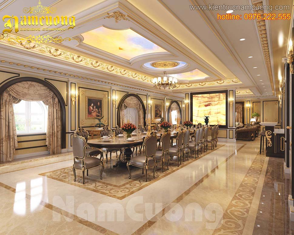 Thiết kế nội thất phòng bếp tân cổ điển tại Hải Phòng - NTTCD 002