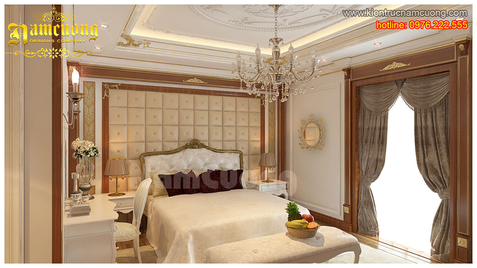 Thiết kế nội thất phòng ngủ tân cổ điển đẹp tại Sài Gòn - NTNTCD 032