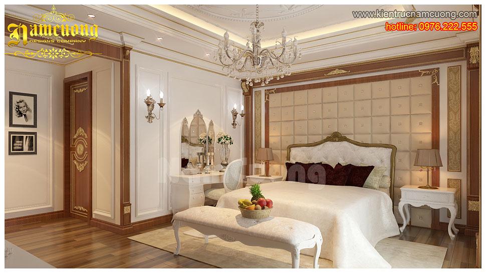 Thiết kế nội thất phòng ngủ tân cổ điển tại Sài Gòn - NTNTCD 024