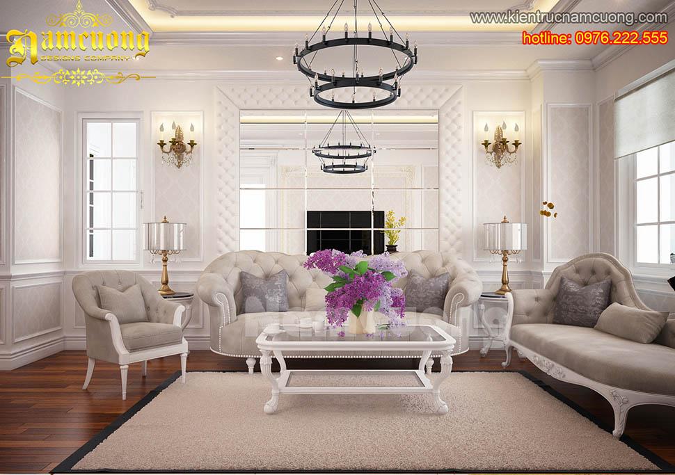 Thiết kế nội thất căn hộ chung cư tân cổ điển tại Sài Gòn - NTTCD 001