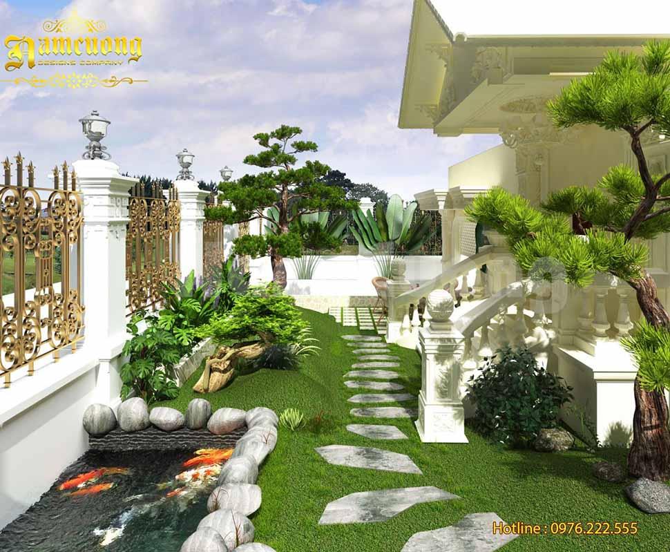 Mẫu thiết kế tiểu cảnh cho biệt thự sân vườn đẹp