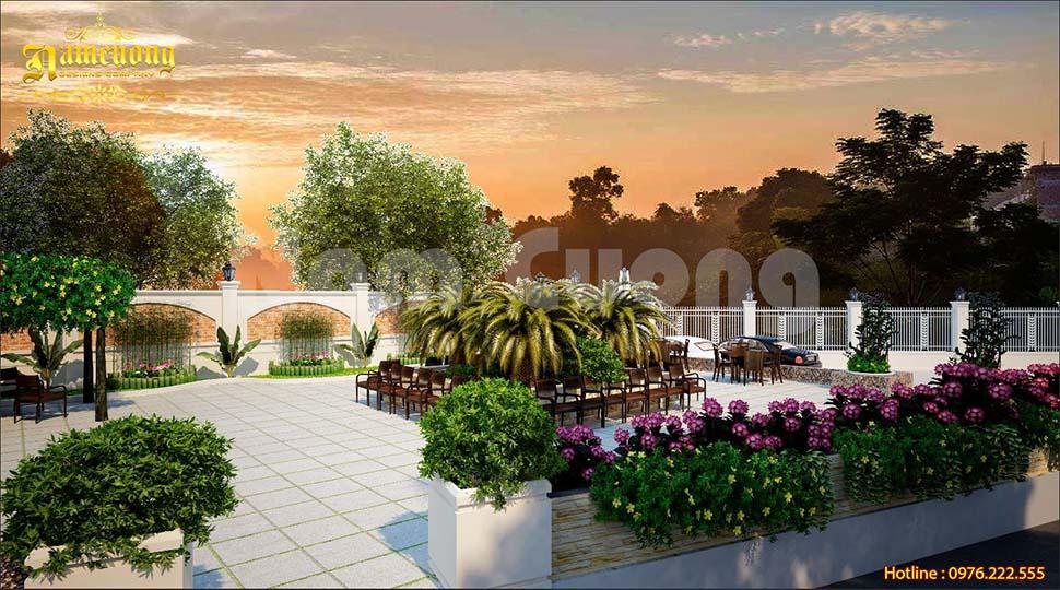 Vẻ đẹp truyền thống trong mẫu thiết kế sân vườn