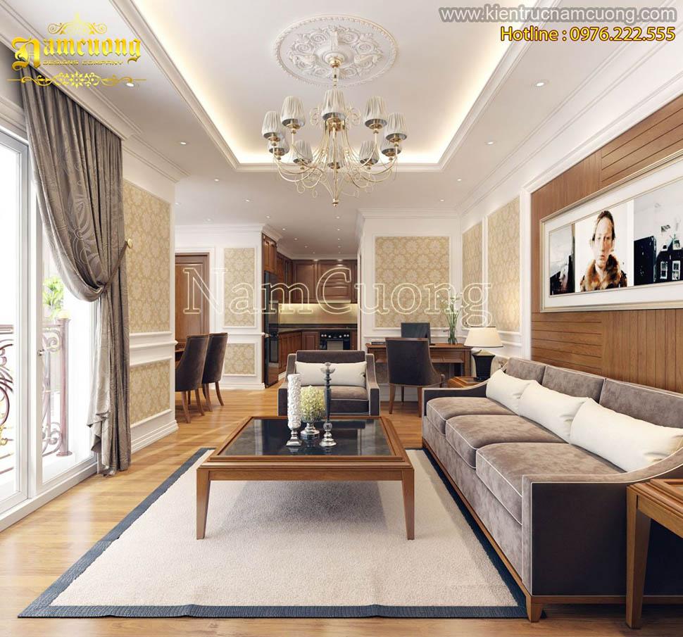 Mẫu nội thất căn hộ chung cư tân cổ điển tại Sài Gòn - NTCCCD 007