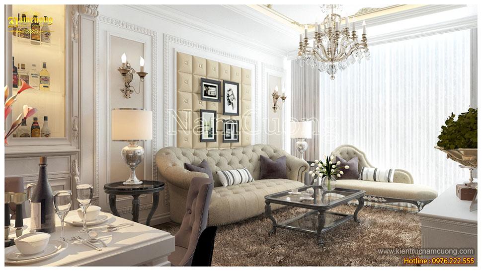 Mẫu nội thất căn hộ chung cư tân cổ điển đẹp tại Sài Gòn - NTCCCD 009