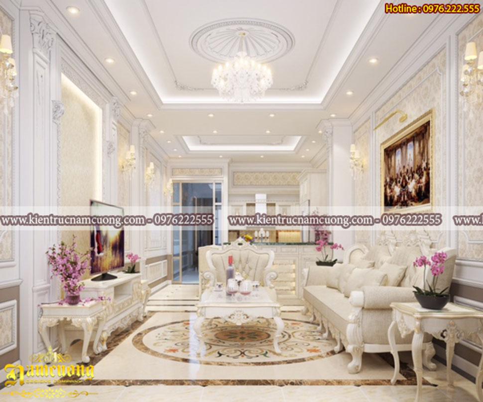 Mẫu thiết kế nội thất tân cổ điển chung cư tại Hải Phòng - NTCCCD 013