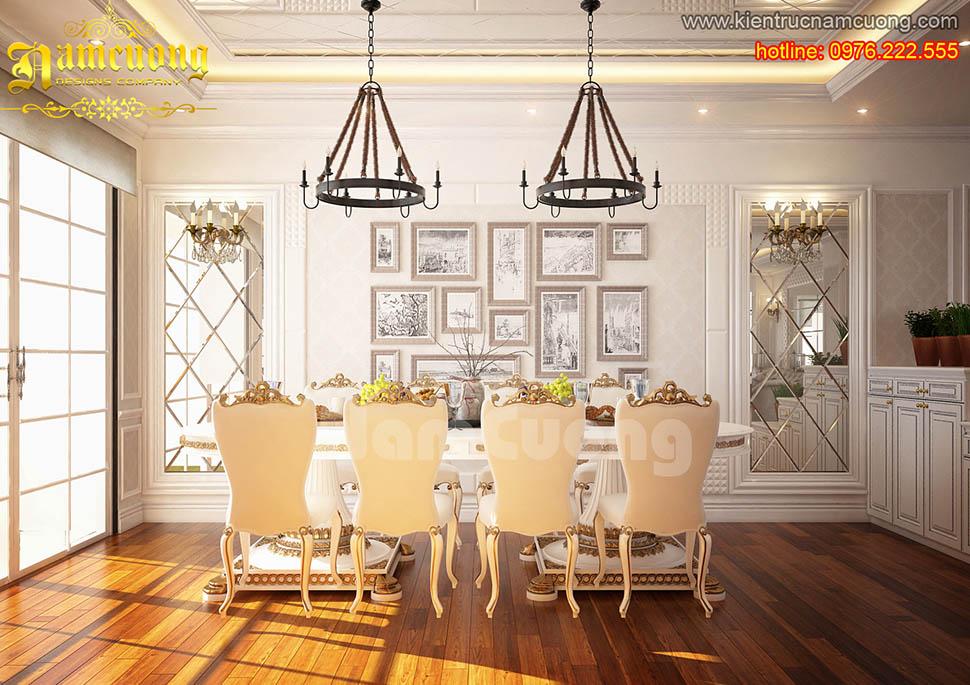 Mẫu nội thất căn hộ chung cư tân cổ điển ấn tượng tại Sài Gòn - NTCCCD 008