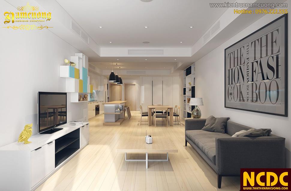 Thiết kế nội thất căn hộ cho người nước ngoài thuê tại Sài Gòn - NTCC 002