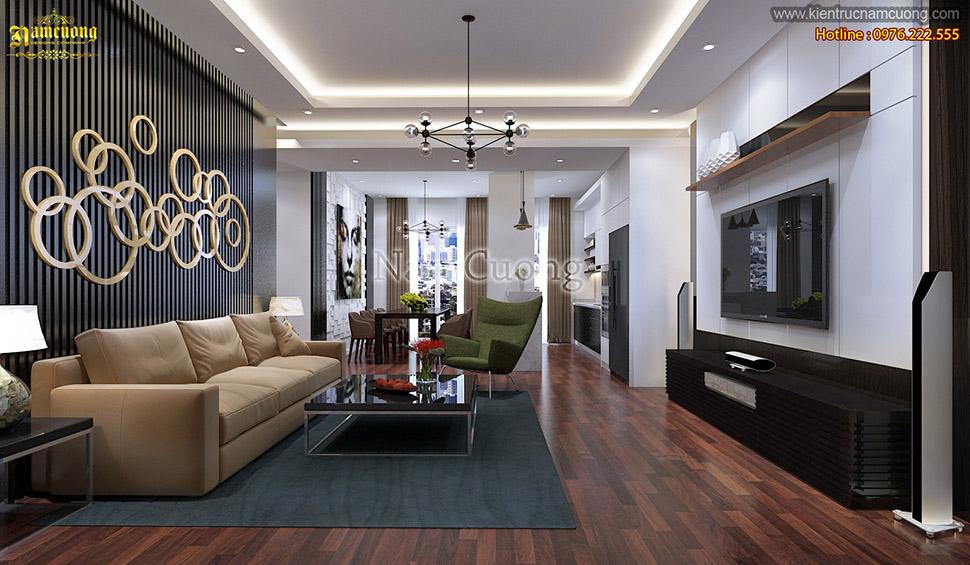 Sống trẻ trung, năng động cùng với mẫu thiết kế nội thất dành cho nhà phố hiện đại tại Quảng Ninh - NTHD 017