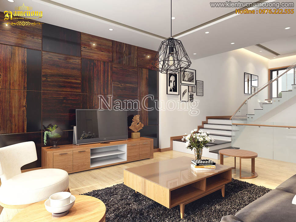 Thiết kế nội thất hiện đại với gam màu gỗ sang trọng tại Hải Phòng - NTHDG 001