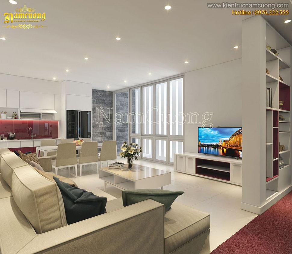 Mẫu nội thất căn hộ chung cư phong cách hiện đại tại Hải Phòng - NTCCHD 003