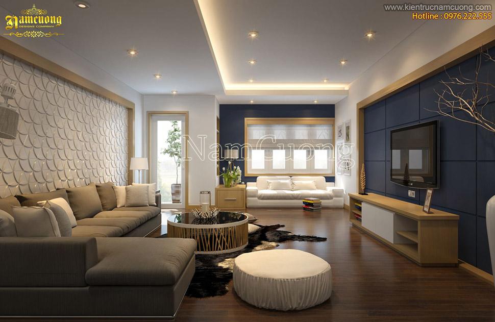 Thiết kế nội thất căn hộ chung cư phong cách hiện đại ấn tượng - NTCCHD 004