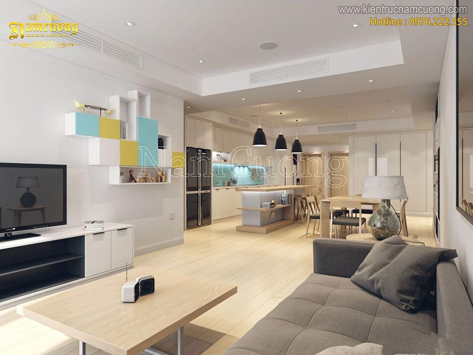 Căn hộ chung cư thiết kế nội thất hiện đại sang trọng tại Hà Nội - NTCCHD 012