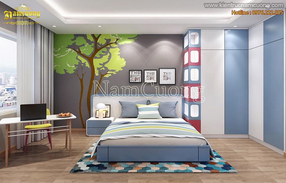 Thiết kế phòng ngủ hiện đại đẹp tại Hải Phòng - NTHD 009