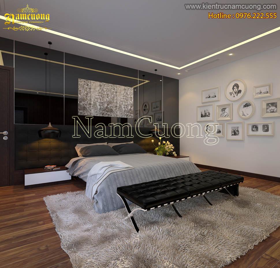 Ấn tượng với gam màu đen đầy nam tính của mẫu phòng ngủ hiện đại tại Hà Nội - PNHDD 001