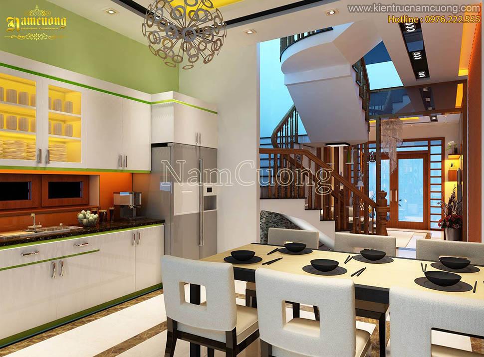 Mẫu nội thất nhà phố hiện đại đẹp tại Hải Phòng - NTNPHD 001