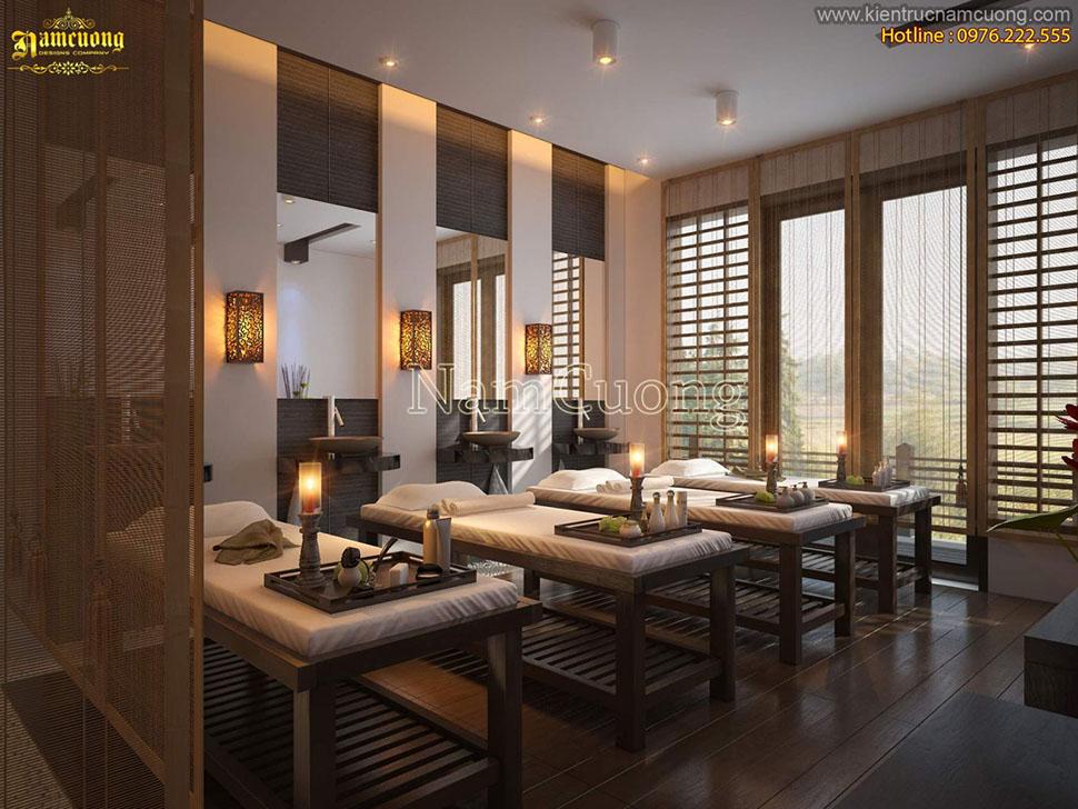 Mẫu thiết kế nội thất spa đẹp ấn tượng phong cách hiện đại - NTSPHD 001