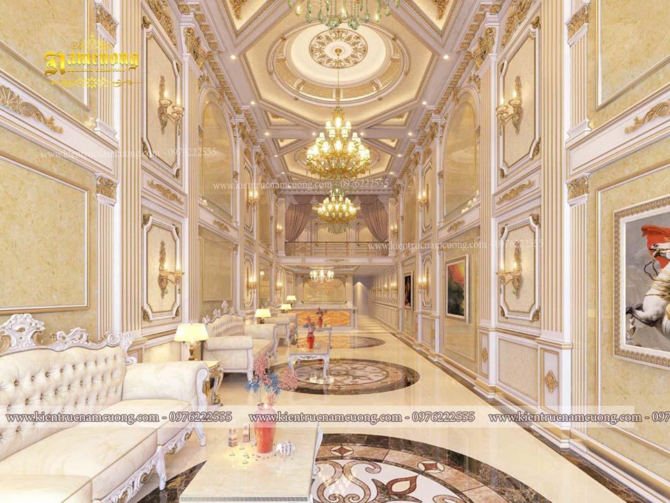 Tổng hợp những mẫu thiết kế nội thất sảnh khách sạn ấn tượng tại Nam Cường