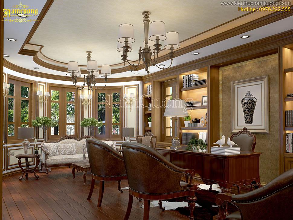Mẫu nội thất đẹp cho biệt thự tân cổ điển tại Quảng Ninh - NTBTCD 019
