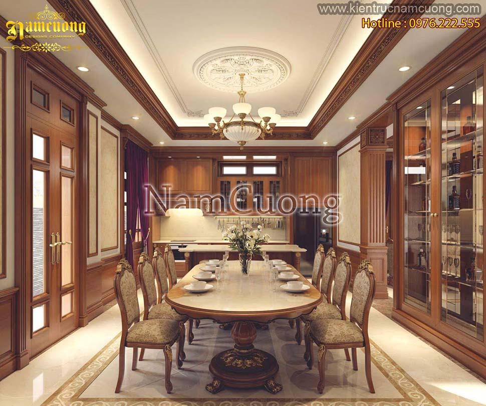 Thiết kế nội thất phòng bếp tân cổ điển ấn tượng tại Sài Gòn - NTNTCD 028