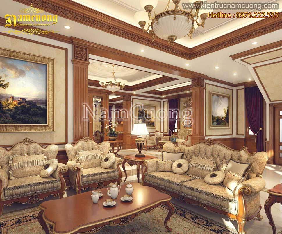 Mẫu nội thất đẹp cho biệt thự tân cổ điển tại Sài Gòn - NTBTCD 023