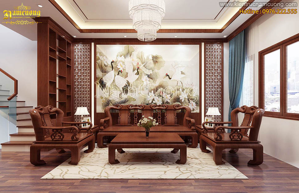 Mẫu nội thất biệt thự tân cổ điển đẹp tại Sài Gòn - NTBTCD 024