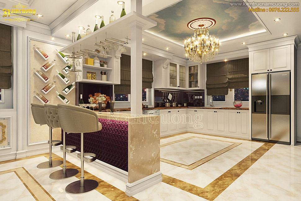 Mẫu nội thất đẹp biệt thự tân cổ điển tại Quảng Ninh - NTBTCD 025