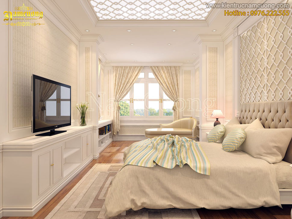 Những mẫu nội thất phòng ngủ tân cổ điển đẹp ấn tượng - NTNTCD 057