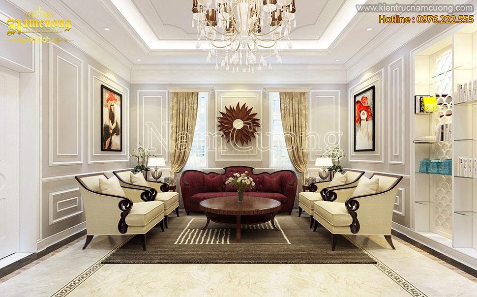 Mẫu thiết kế phòng khách tân cổ điển đẹp tại Sài Gòn - NTKTCD 053