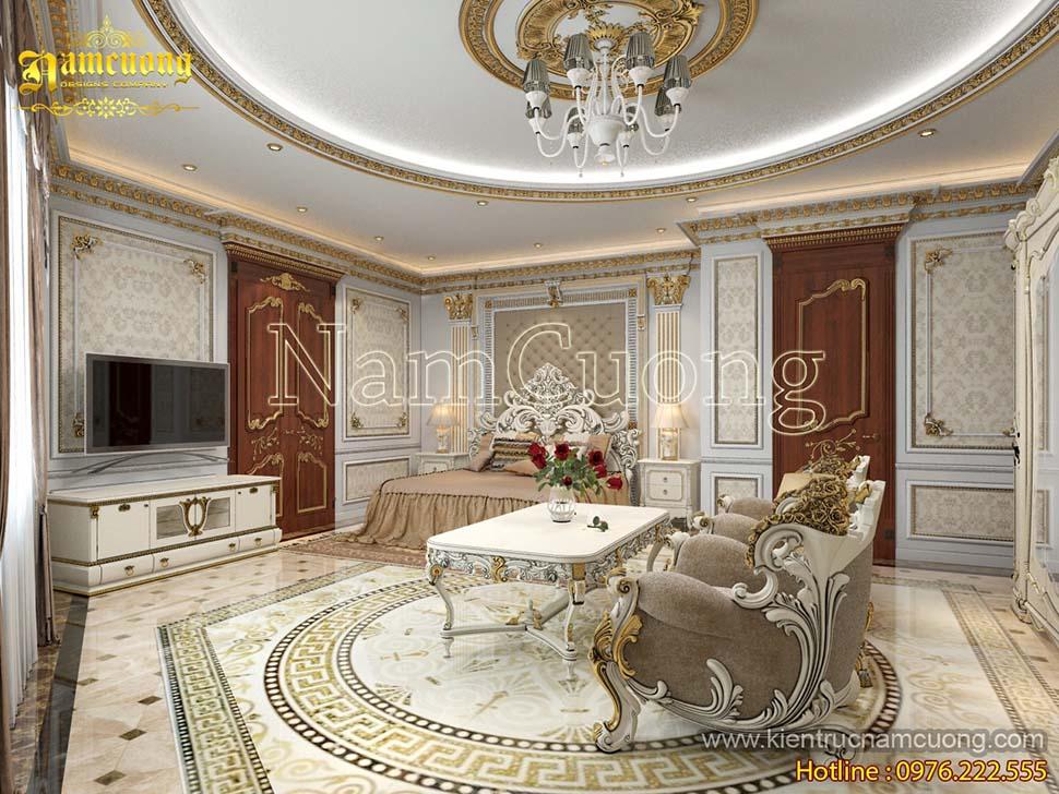 Mẫu thiết kế nội thất biệt thự cổ điển Pháp đẹp tại Hà Nội - NTBTCD 034