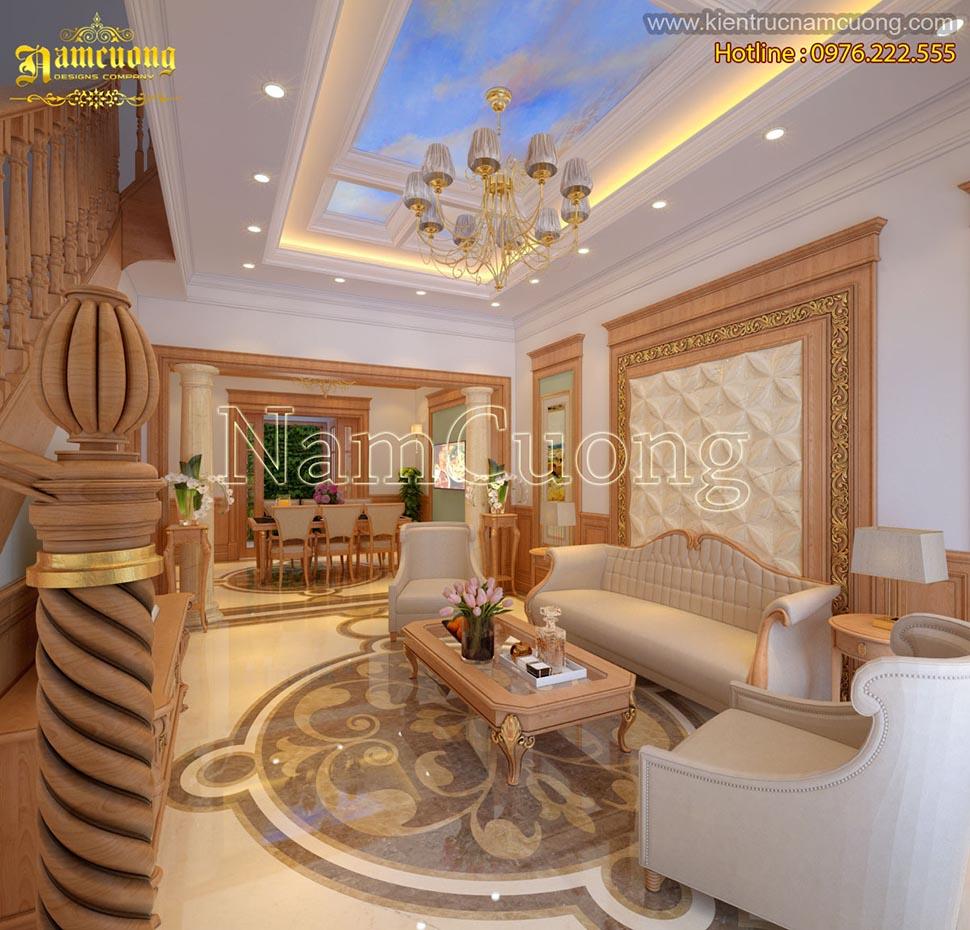 Thiết kế nội thất nhà ống phong cách tân cổ điển tại Quảng Ninh - NTBTCD 035
