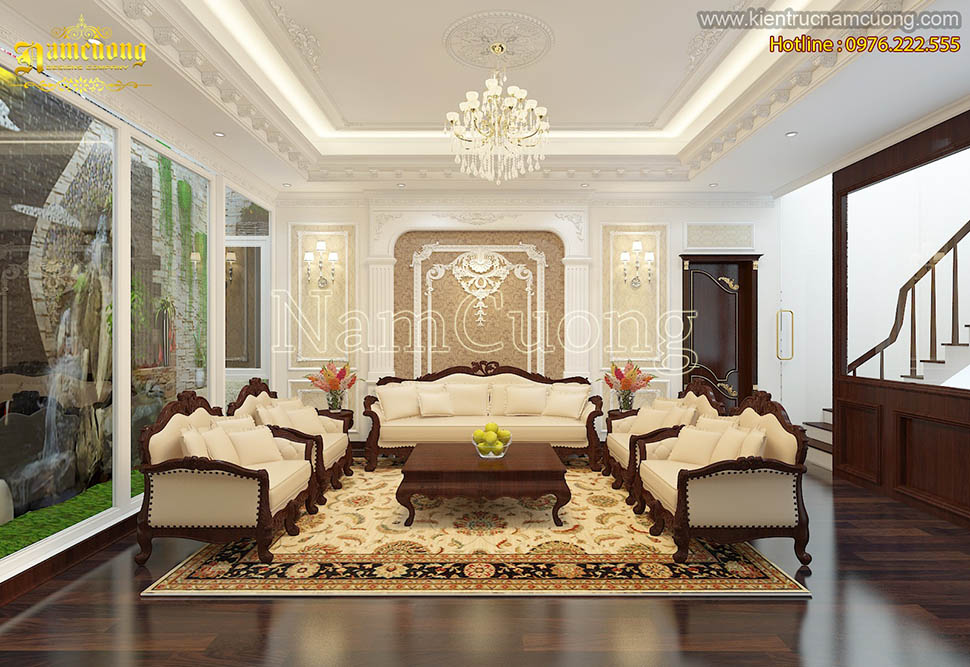 Những mẫu phòng khách phong cách tân cổ điển đẹp ấn tượng của NCDC