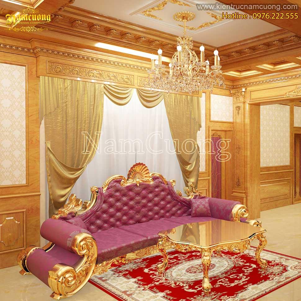 Choáng ngợp với mẫu thiết kế nội thất biệt thự cổ điển châu Âu - NTBTCD 038