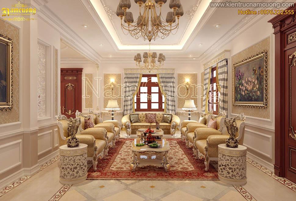 Mẫu thiết kế nội thất cổ điển sang trọng cho biệt thự Pháp tại Sài Gòn