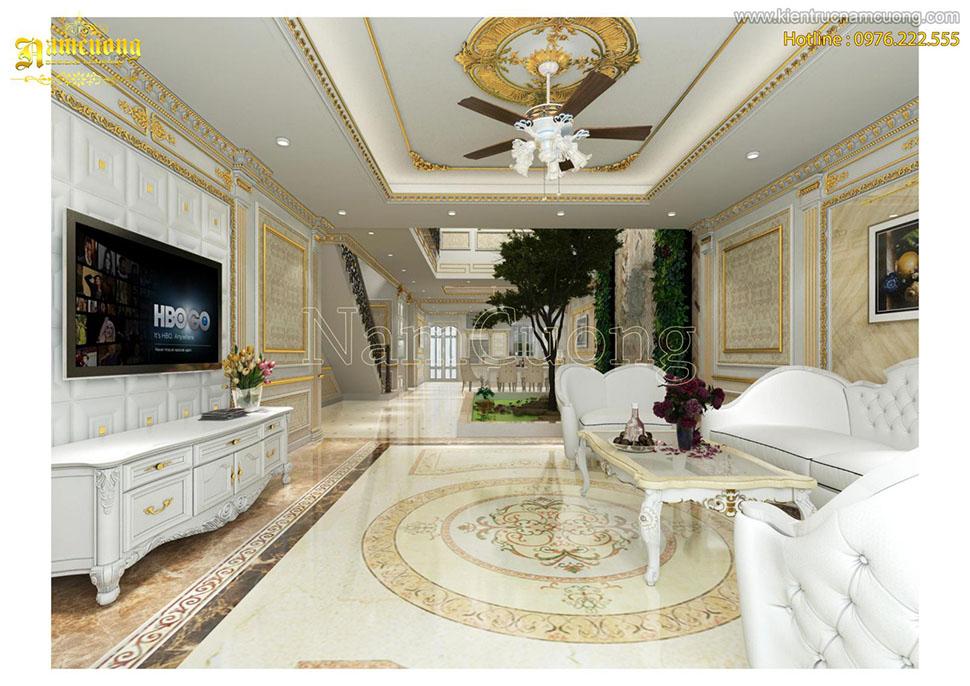 Biệt thự tân cổ điển tại Sài Gòn sang trọng với gam màu trắng tinh tế - NTBTCD 042