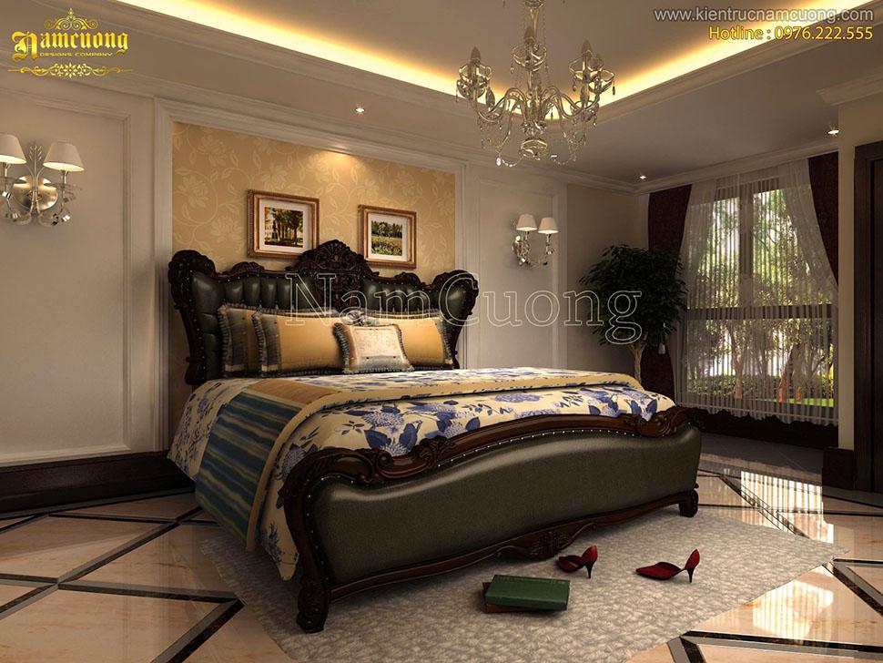 Mẫu thiết kế nội thất biệt thự cổ điển vintage ấn tượng - NTBTCD 044