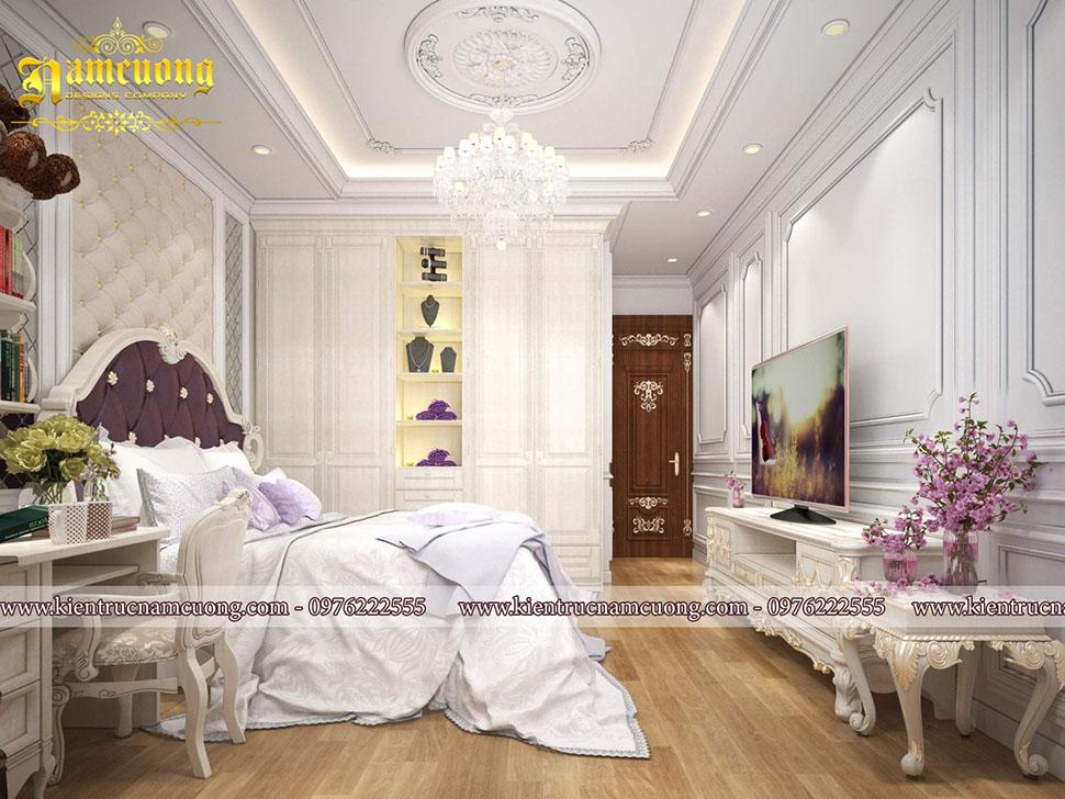 Nội thất phòng ngủ tân cổ điển sang trọng cho biệt thự tại Sài Gòn - NTBTCD 045