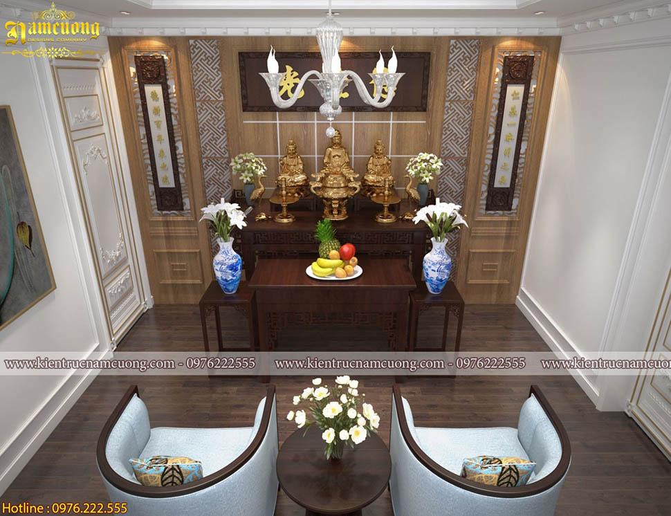 Những không gian phòng thờ với phong cách thiết kế mang đậm nét Á Đông