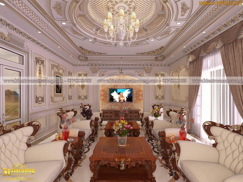 Mẫu thiết kế nội thất cho biệt thự cổ điển tại Sài Gòn - NTBTCD 053