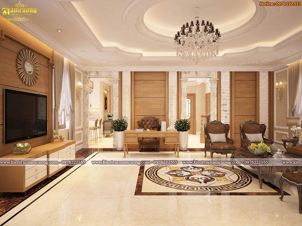 Nội thất đẹp cho mẫu biệt thự tân cổ điển tại Hà Nội - NTBTCD 054