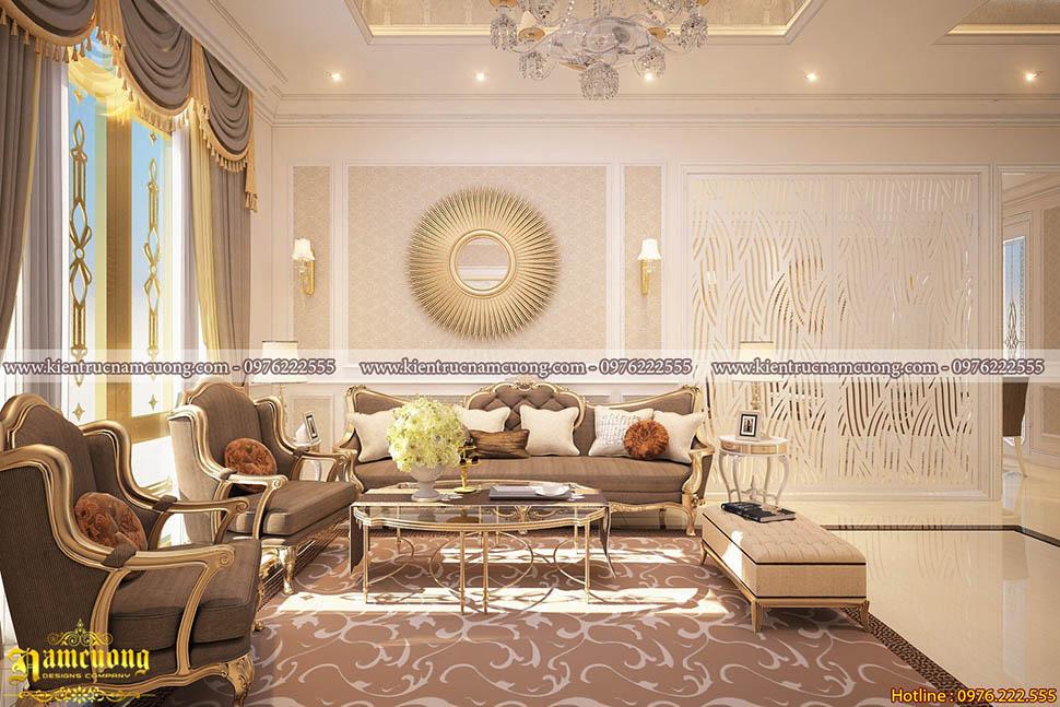 Mẫu thiết kế nội thất tân cổ điển đẹp tại Hòa Bình - NTBTCD 056