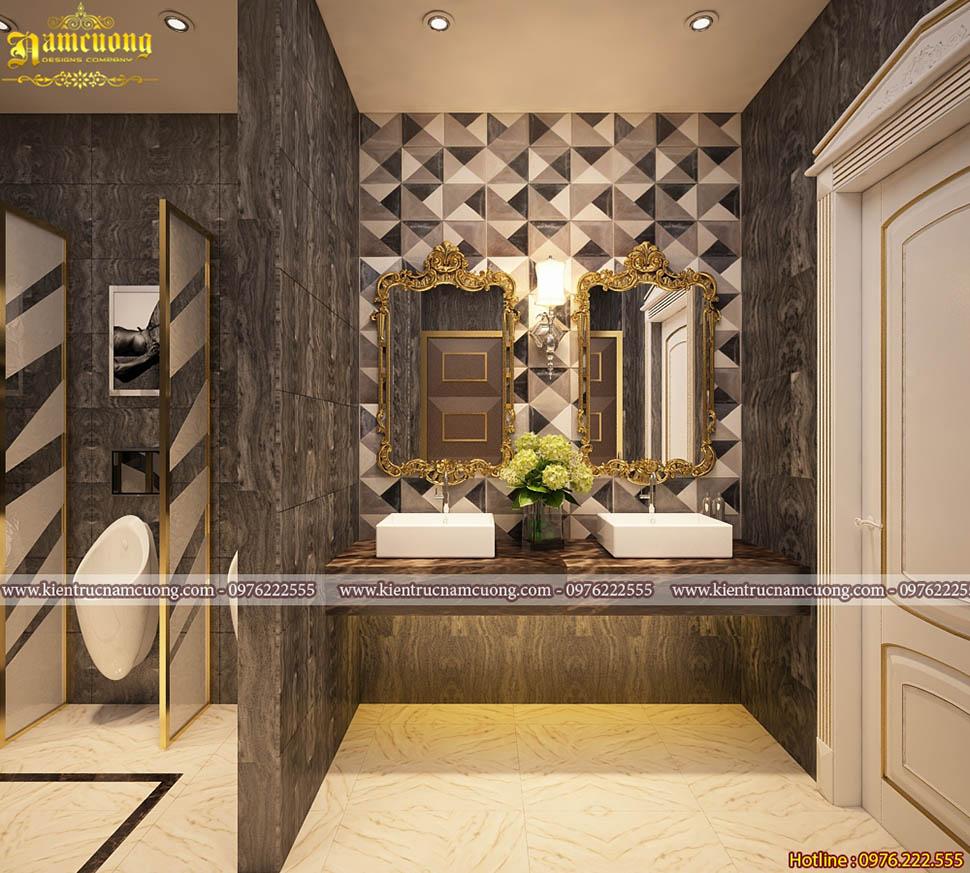 Nội thất phòng tắm cho các mẫu biệt thự tân cổ điển đẹp- NTWCCD 006