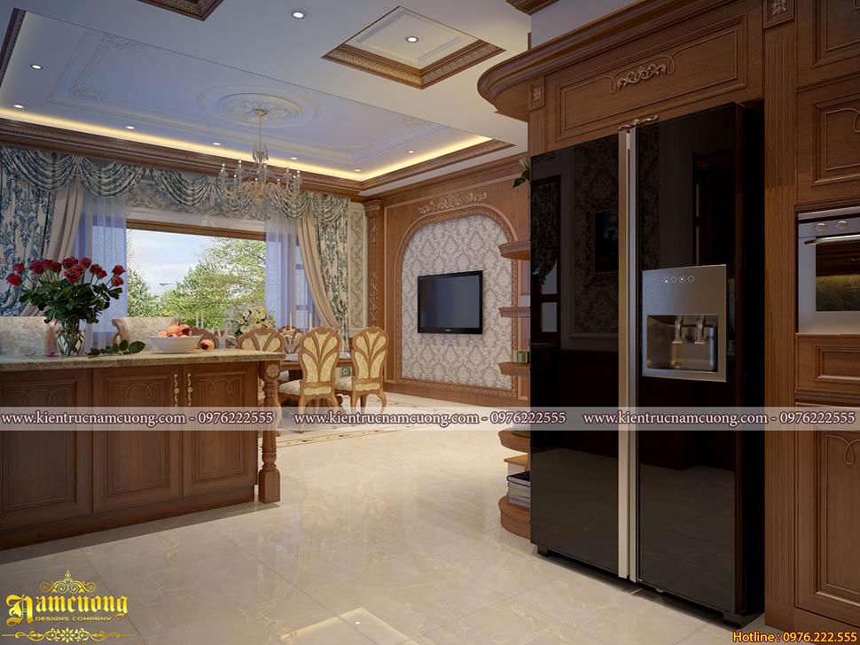 Nội thất phòng bếp tân cổ điển sang trọng tại Hải Phòng - NTBCD 002