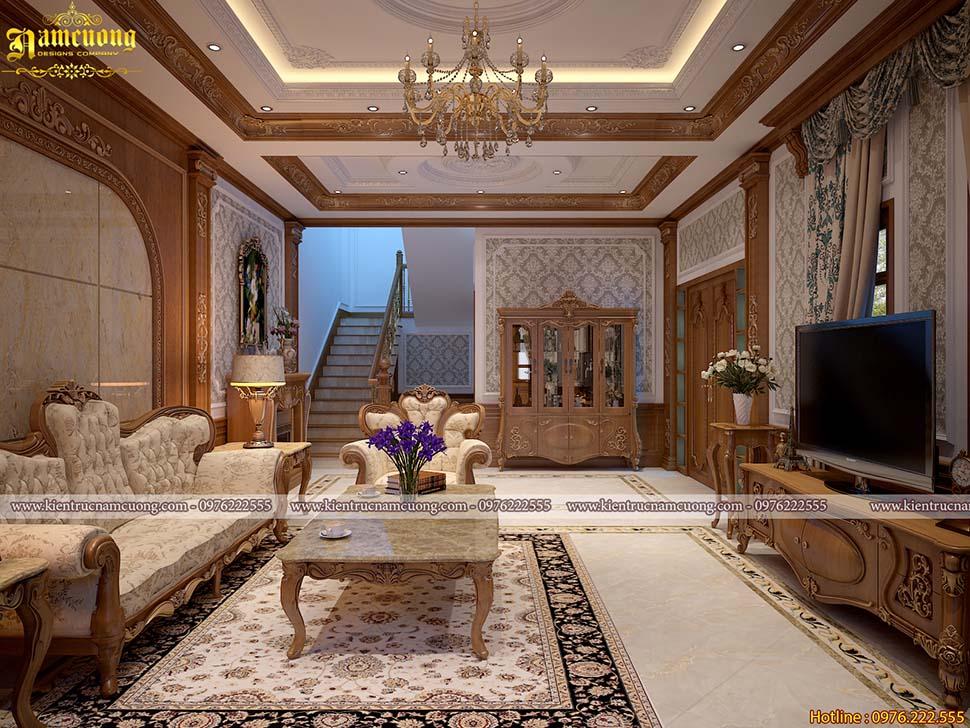 Thiết kế nội thất biệt thự tân cổ điển đẹp tại Hà Nội - NTBTCD 058