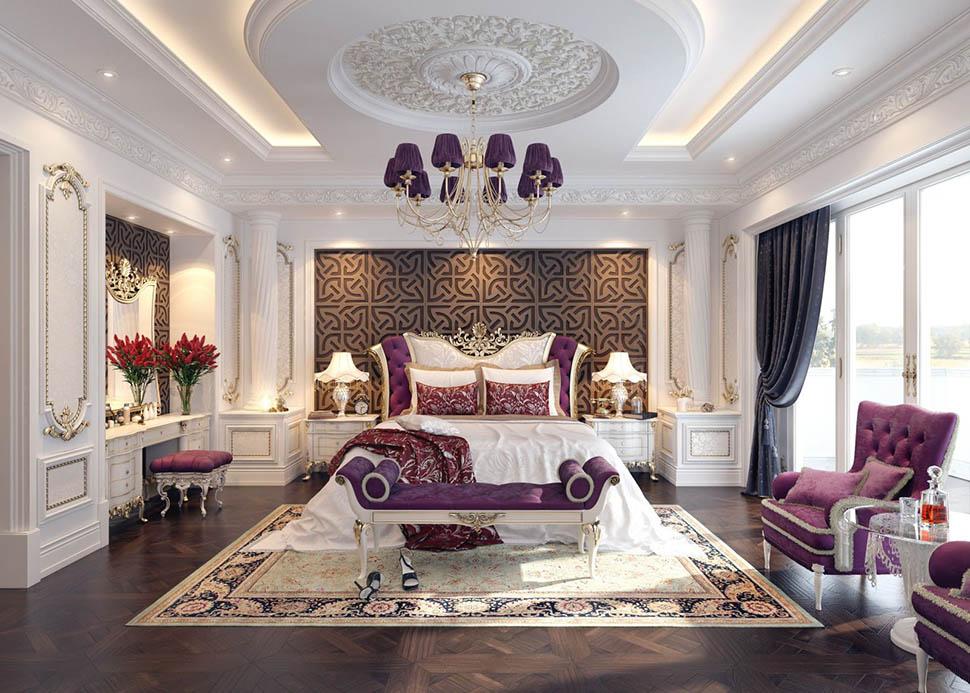 Những mẫu nội thất phòng ngủ cổ điển Pháp sang trọng đẳng cấp