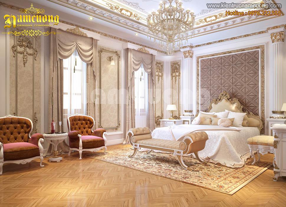 Những mẫu thiết kế nội thất phòng ngủ kiểu Pháp tại Sài Gòn - NTNP 021