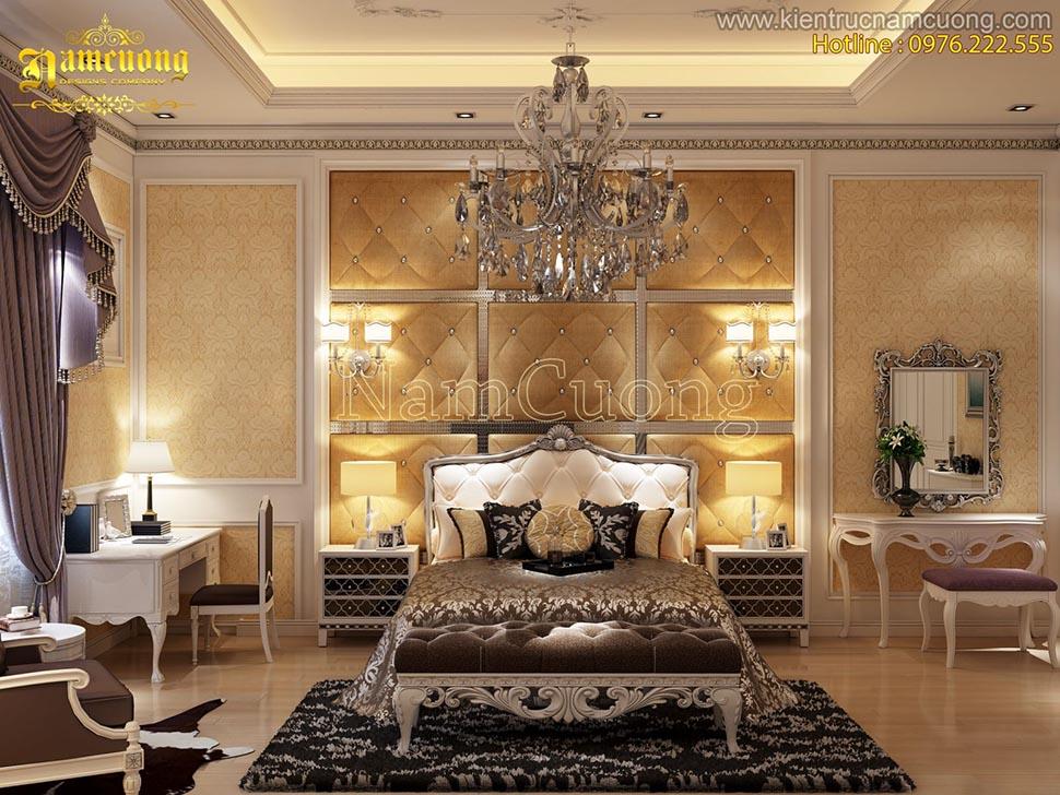 Mẫu thiết kế nội thất đẹp cho biệt thự cổ điển Pháp - NTBTP 009