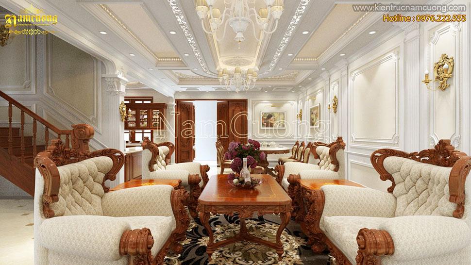 Thiết kế nội thất biệt thự tân cổ điển sang trọng